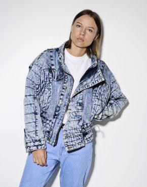Vintage denim jacket for women