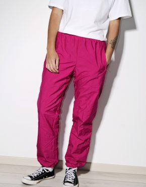 Retro 90s ski pants in pink color