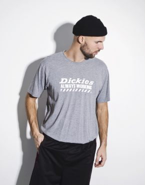 DICKIES cotton gray men's t-shirt