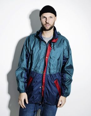 Retro lightweight windbreaker jacket