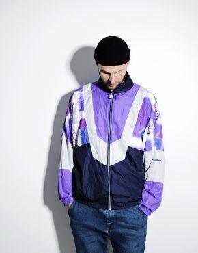 80s vintage windbreaker shell jacket