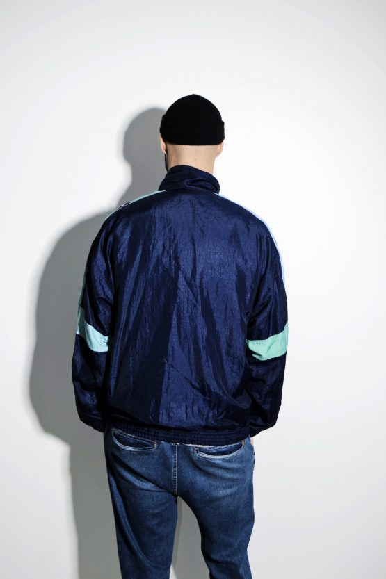 80s retro windbreaker shell jacket XL