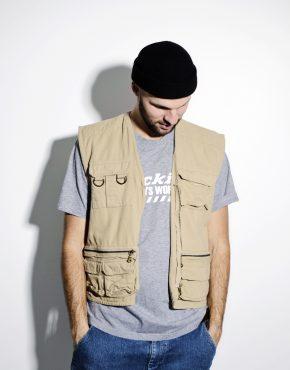 90s mens cargo style vest