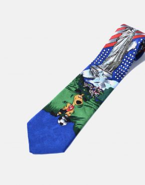 90s vintage necktie mens USA printed tie