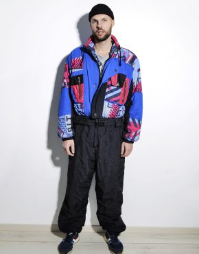 80s vintage ski suit winter warm mens