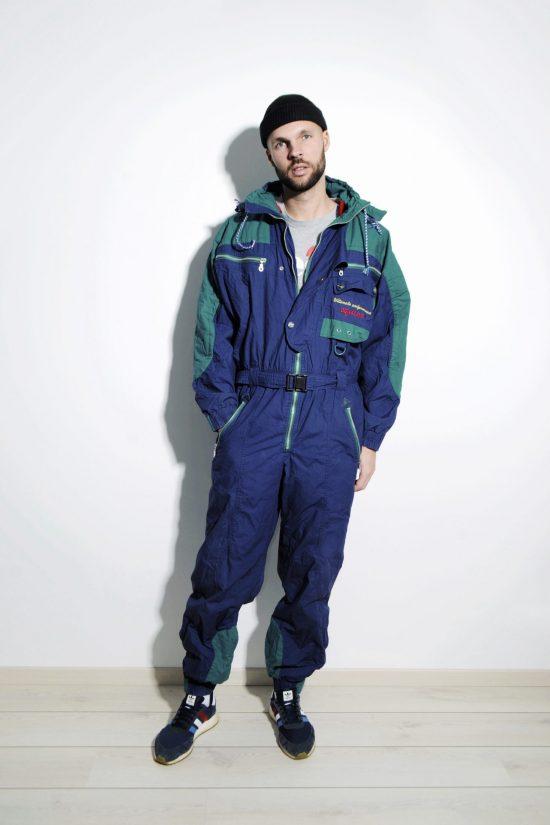 Vintage winter ski suit mens
