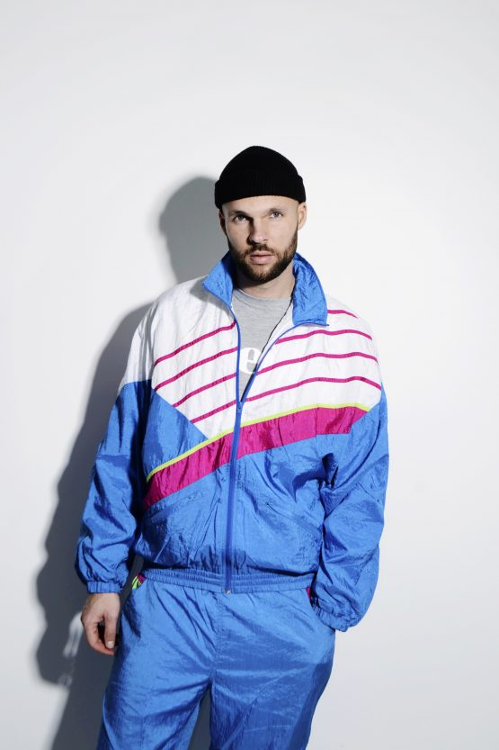 Vintage rave tracksuit set in multi color
