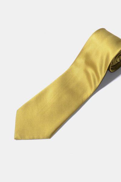 Retro gold colour tie for men