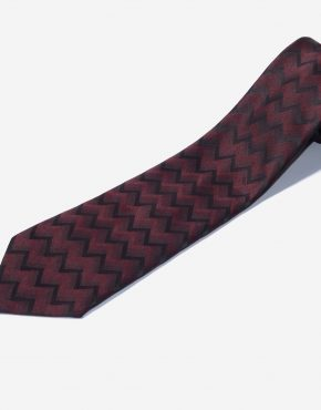Retro zigzag tie for men