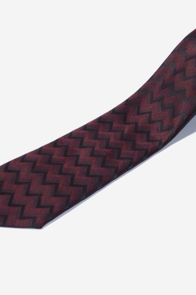 Retro zigzag tie for men