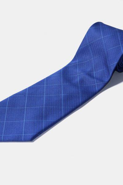 Blue diamond pattern tie