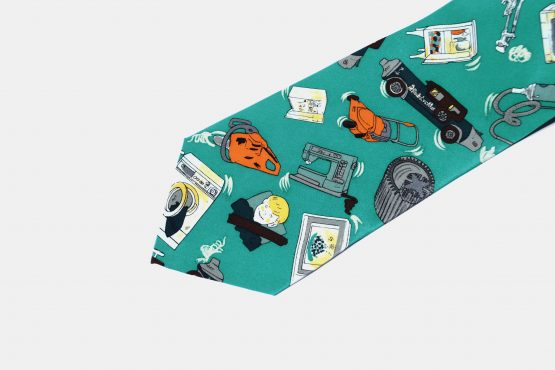 90s retro silk necktie mens
