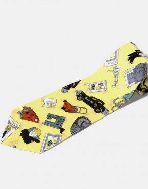 90s retro multi tie yellow