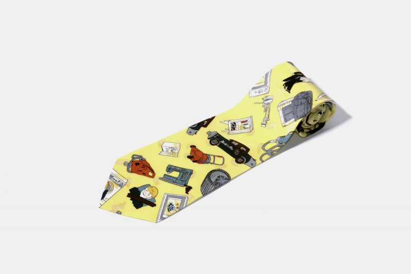 90s retro multi tie yellow