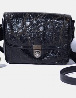 80s Retro Crossbody Bag Womens Black