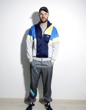 PUMA 80's track jacket in multi colour