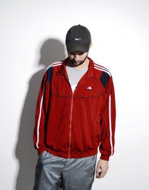 ADIDAS vintage red classic track jacket