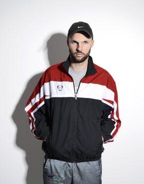 NIKE vintage red shell jacket men