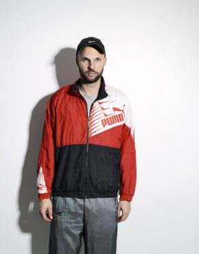 PUMA 90s style jacket men red