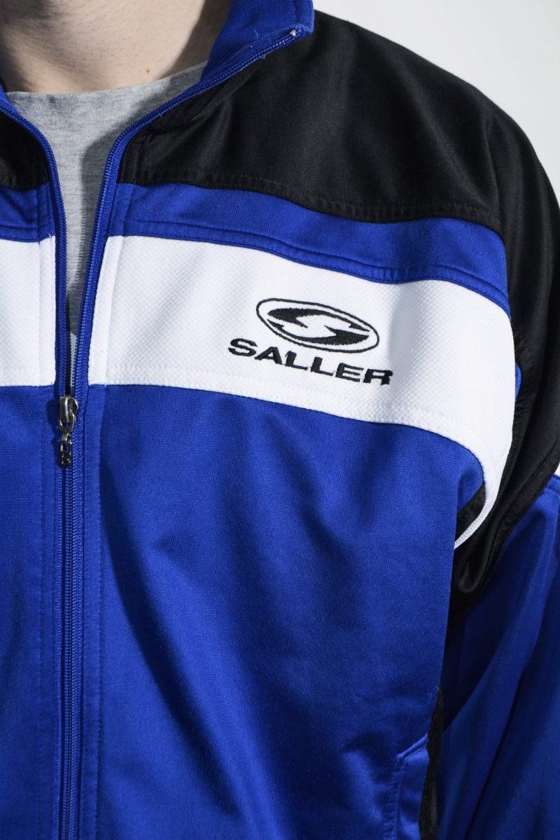 Vintage blue tracksuit top sports jacket