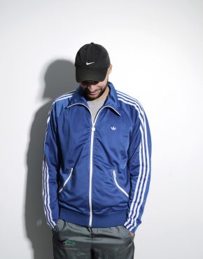 ADIDAS retro 70s style track jacket in blue