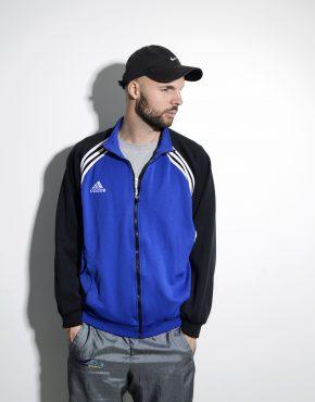 ADIDAS vintage blue classic track jacket