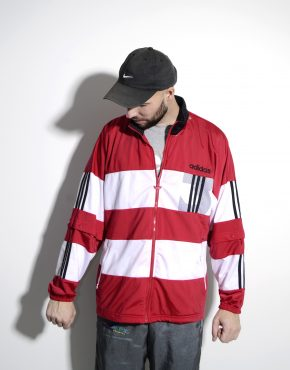 90s Adidas Originals red sport jacket