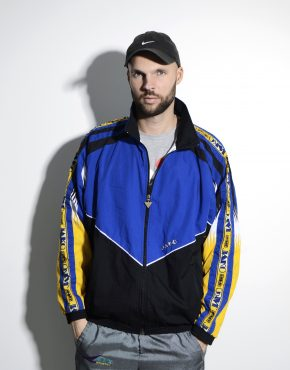 80s retro windbreaker men spring shell jacket
