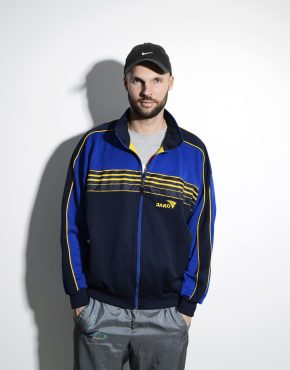 Old School track jacket men blue colour