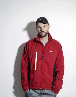 90s vintage jacket in red
