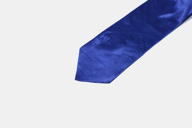 80s vintage necktie men blue