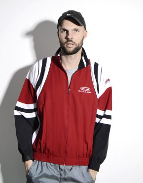 Vintage sports jacket red men
