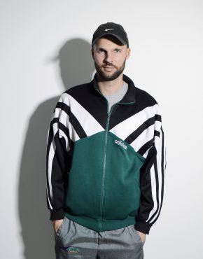 Vintage 80s ADIDAS sport jacket green