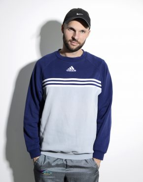 ADIDAS Old School sweatshirt grey blue