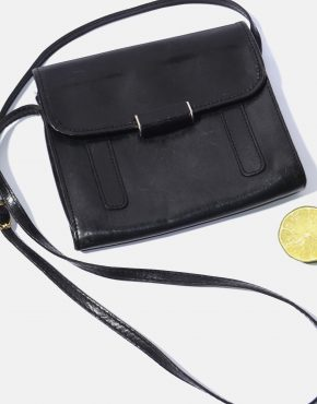 Vintage Crossbody Bag Womens Black Leather