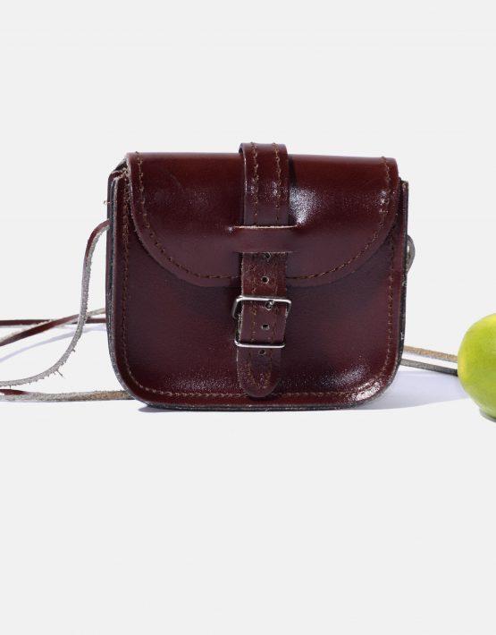 Retro Brown Leather Crossbody Bag Womens