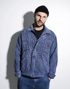 Mens 80s vintage denim jacket coat