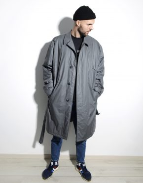 80s retro detective trench coat men's