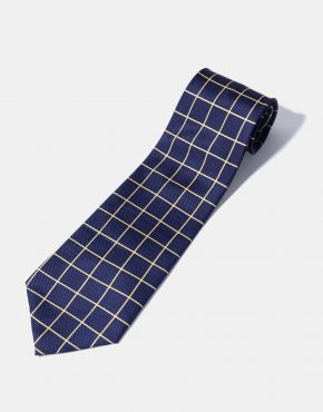 Vintage tie blue diamond pattern