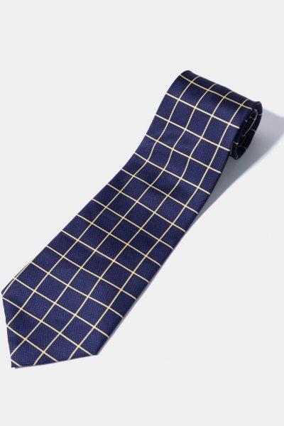 Vintage tie blue diamond pattern