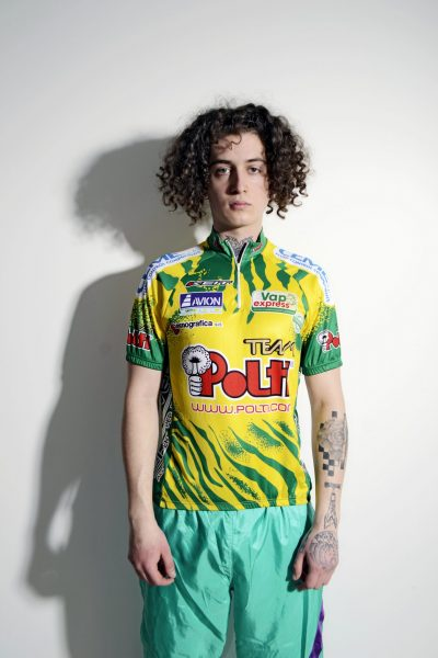 Vintage 80s cycling shirt mens