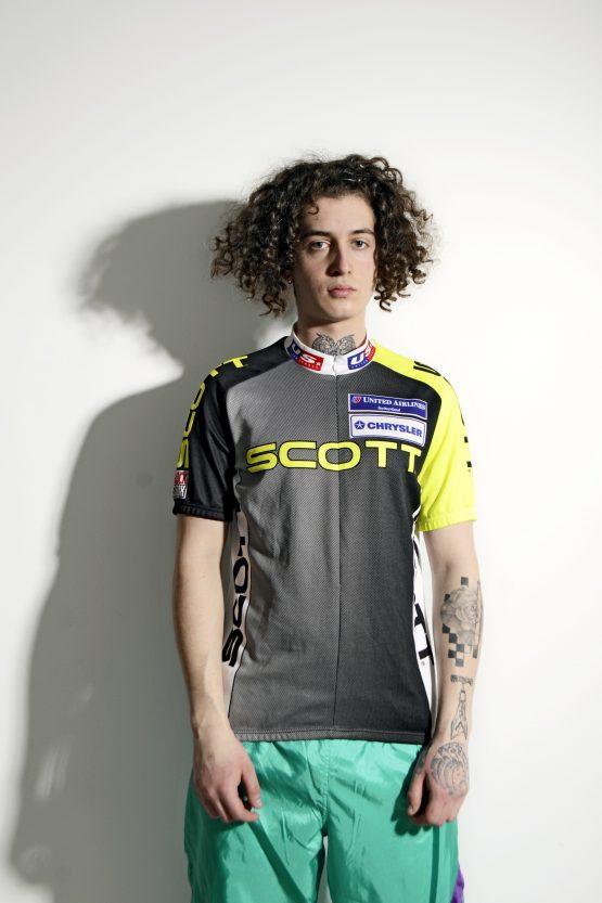 Retro 90s cycling shirt men