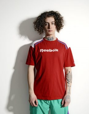 REEBOK red mens vintage t-shirt