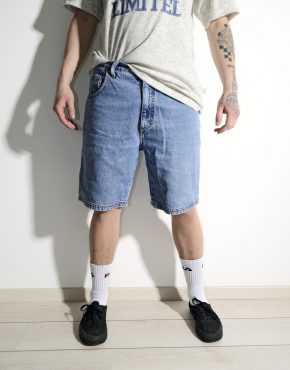 Skater long denim shorts blue