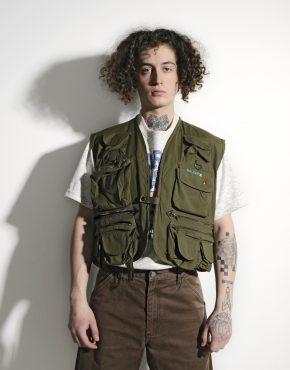 Utility cargo vest men