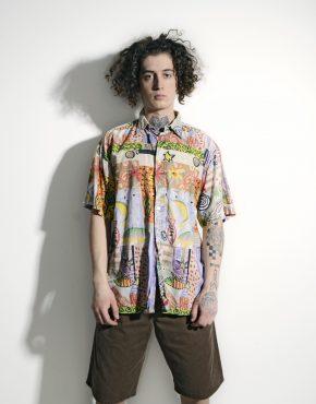 Vintage summer abstract shirt