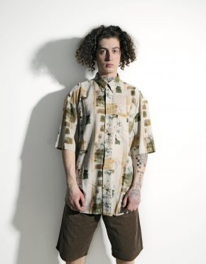 Abstract 90s pattern shirt men