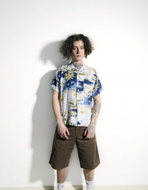 Hawaiian 90s pattern shirt men