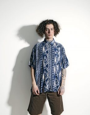 90s geometric patterned shirt