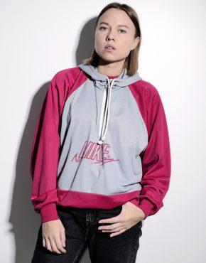 NIKE 90s vintage hoodie pink grey